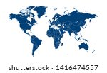 color world map vector modern | Shutterstock .eps vector #1416474557