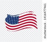 usa flag isolated. flag of usa  ...