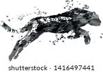 vector grayscale ink silhouette ... | Shutterstock .eps vector #1416497441