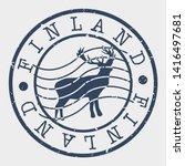 finland stamp. deer mountain... | Shutterstock .eps vector #1416497681