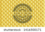 apply now golden badge or... | Shutterstock .eps vector #1416500171
