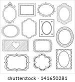 hand drawn doodle frame set | Shutterstock . vector #141650281