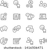 chat and message related line... | Shutterstock .eps vector #1416506471
