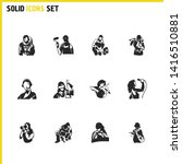 profession icons set with...