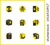 eco icons set with electrical...