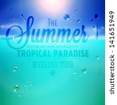summer holidays typography... | Shutterstock .eps vector #141651949