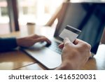 online shopping concept with... | Shutterstock . vector #1416520031