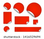 set of curled stickers isolated ... | Shutterstock .eps vector #1416529694