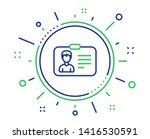 id card line icon. user profile ... | Shutterstock .eps vector #1416530591