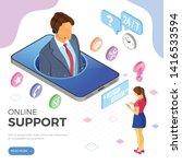 online isometric customer...   Shutterstock .eps vector #1416533594