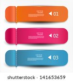 set of bookmarks  stickers ... | Shutterstock .eps vector #141653659