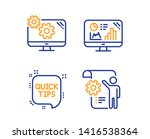 analytics graph  quick tips and ... | Shutterstock .eps vector #1416538364