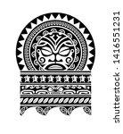 tribal tattoo pattern  art... | Shutterstock .eps vector #1416551231