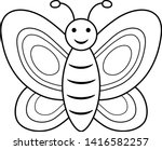 Butterfly Coloring Book Page...