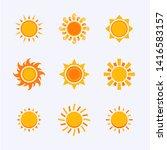 vector color sun icon sign... | Shutterstock .eps vector #1416583157