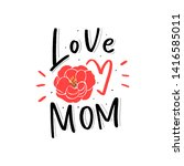 kids print with floral and... | Shutterstock .eps vector #1416585011
