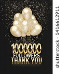 one million subscribers thanks...   Shutterstock .eps vector #1416612911