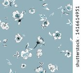 cute floral seamless pattern... | Shutterstock .eps vector #1416614951