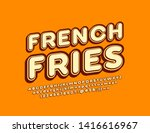 vector vintage logo french... | Shutterstock .eps vector #1416616967