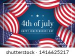 4th of july with flag america... | Shutterstock .eps vector #1416625217