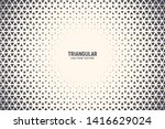 triangle shapes vector abstract ... | Shutterstock .eps vector #1416629024