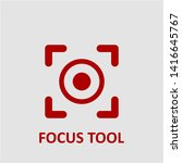 filled focus tool icon. focus...   Shutterstock .eps vector #1416645767