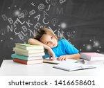 girl with dyslexia or dyslexia... | Shutterstock . vector #1416658601