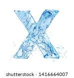 Blue water splash alphabet...