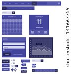 web elements. flat design