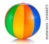 colorful beach ball isolated on ... | Shutterstock . vector #141668371