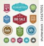 vector vintage sale label set... | Shutterstock .eps vector #141670501