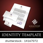 identity template | Shutterstock .eps vector #14167072