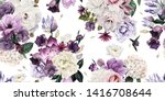 seamless floral pattern with... | Shutterstock . vector #1416708644