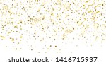 golden glitter confetti on a... | Shutterstock .eps vector #1416715937
