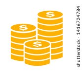 gold coins stack vector icon... | Shutterstock .eps vector #1416724784