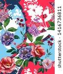 bright fashion watercolor... | Shutterstock . vector #1416736811