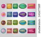 summer challenge labels   hand... | Shutterstock .eps vector #141677389