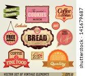 set of vintage labels and... | Shutterstock .eps vector #141679687