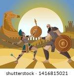 Troy Trojan Horse Scene And...