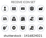 receive icon set. 15 filled... | Shutterstock .eps vector #1416824021