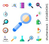 discovery icon set. 17 flat... | Shutterstock .eps vector #1416834341