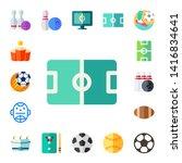 league icon set. 17 flat league ... | Shutterstock .eps vector #1416834641