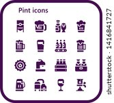 pint icon set. 16 filled pint... | Shutterstock .eps vector #1416841727