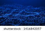 network connection dots and... | Shutterstock . vector #1416842057