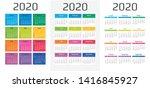 calendar 2020 template. 12... | Shutterstock .eps vector #1416845927