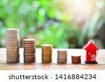 money coins saving set increase ... | Shutterstock . vector #1416884234