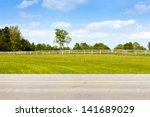 american country road side view | Shutterstock . vector #141689029
