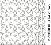 pattern black geometry of... | Shutterstock .eps vector #1416897107