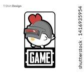 chicken in a helmet level 3 ... | Shutterstock .eps vector #1416935954