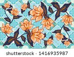 indonesian batik motifs with... | Shutterstock .eps vector #1416935987